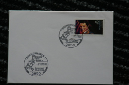 Elvis Presley FDC Bremerhaven 1.10.1988 - Stamp-Exhibition Special Cancellation Stamp - [7] Federal Republic