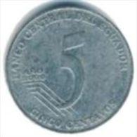 Ecuador- 5 Centavos - 2000 - KM 105 - Vz+ - Equateur