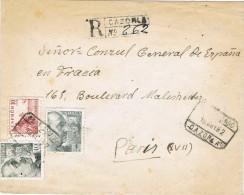 3903. Carta Certificada CAZORLA (Jaen) 1942. EXENTO CENSURA - 1931-Aujourd'hui: II. République - ....Juan Carlos I