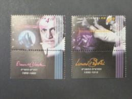 ISRAEL 1995 MUSICIANS BERNSTEIN AND BLOCH MINT TAB  STAMP - Israel