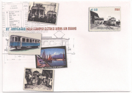 Italia - 2012 - Busta Postale, Ottantesimo Anniversario Della Ferrovia Rimini - San Marino, 0,60 Euro, Nuova - Treni
