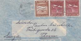 CHILE 1953, 3 Fach Frankierung Auf FP-Brief, Gelaufen Von San Felipe Chile Nach Thun Schweiz - Chile