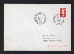 Lettre Avec CàD BPM 510 OFFENBOURG Bureau Postal Militaire 13/06/1991 - Réf A1502 - Postmark Collection (Covers)