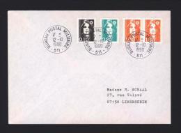 Lettre Avec CàD BPM 511 FRIBOURG Bureau Postal Militaire 12/10/1990 - Réf A1509 - Postmark Collection (Covers)
