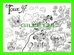CYCLISME - MAROMME (76) - TOUR DE FRANCE 1997 - LA SEINE MARITIME AU DÉPART - DESSIN, HERVÉ LACOSTE - TIRAGE 600 EX - - Cyclisme