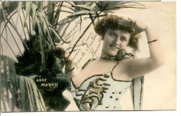 Lucy MANON - Artiste De Revues - Scala, Folies-Bergère (1907) - Rehausse Strass - Danse