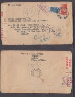 1943 Airmail Envelope + Letter In Afrikaans; COLENSO To South African PoW In Camp In Italy - South Africa (...-1961)