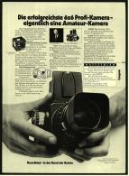 Reklame Werbeanzeige 1976 ,   Hasselblad 6 X 6 Profi-Kamera  ,  In Der Hand Der Besten - Photographica