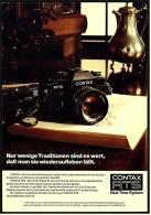 Reklame Werbeanzeige 1975 ,   Contax RTS Kamera  -  Nur Wenige Traditionen Sind Es Wert.... - Ohne Zuordnung