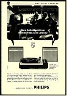 Reklame Werbeanzeige  -  Philips Plattenspieler GF 417 -  Ihre Schallplatten Erwachen Zum Leben  -  Von 1969 - Wissenschaft & Technik