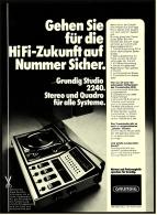 Reklame Werbeanzeige  -  Grundig Studio 2240 Musik-Anlage  -  Von 1975 - Wissenschaft & Technik