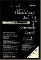 Reklame Werbeanzeige  -  Grundig HiFi-Stereo-Anlage  -  Von 1970 - Wissenschaft & Technik