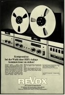 Reklame Werbeanzeige  -  Revox  HiFi-Technik Für Anspruchsvolle  -  Von 1970 - Wissenschaft & Technik