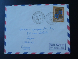 Lettre Cover Blason Coat Of Arm Oblitération Arivonimamo Aéroport Madagascar 1965 - Madagaskar (1960-...)