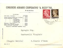 N-CARD COMMERCIALE CONSORZIO AGRARIO COOPERATIVO A.BIZZOZERO PARMA - Advertising