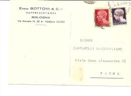 N-CARD COMMERCIALE BOLOGNA-EREDI BOTTONI & C. RAPPRESENTANZE - Advertising