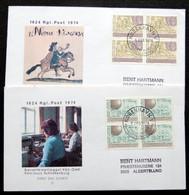 Denmark 1974 Czeslaw Slania. Mail Services /service De Courrier POST  MiNr.577-78 FDC  ( Lot Ks) - FDC