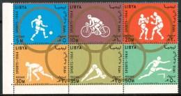 "1964 Libia ""Tokio 64"" Olimpiadi Olympic Games Jeux Olympiques MNH** -Li - Libya"