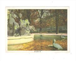 75 - Paris - Jardins De L'observation - Série D 2/10 LOTERIE NATIONALE - Fontaine Chevaux Tortue Turtle - Schildpadden