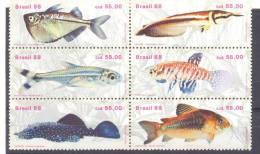 1988. Brazil, Fishes Of Brazil, 6v, Mint/** - Brésil