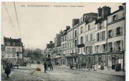 CPA 77 FONTAINEBLEAU GRANDE RUE PLACE CARNOT Animée Commerces - Fontainebleau