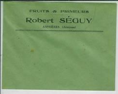 Enveloppe Commerciale De Asprières (fruits Et Primeurs) Plus Une étiquette D´expedition - Fruits & Vegetables