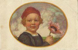 AK Kind Junge Mit Anemone Bayer. Blumentag 1913 Zumbusch #01 - Zumbusch, Ludwig V.