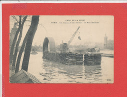 75 PARIS Cpa Animée CRUE INONDATIONS 1910 * Travaux Du Tube Berlier       Edit ELD - De Overstroming Van 1910