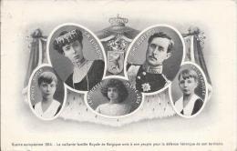7675 - La Vaillante Famille Royale De Belgique Unie à Son Peuple Pour La Défense Héroïque De Son Territoire (Etat Moyen) - Familles Royales