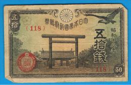 JAPON - JAPAN -  50 Sen 1942/44  P-59 - Japón
