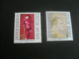 De196-   Stamp MNh Germany -1991- SC. 1692-1693- Otto DIx -painter - [7] République Fédérale