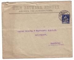 Entier Postal 25ct, Wilh. Baumann Horgen (7362) - Entiers Postaux