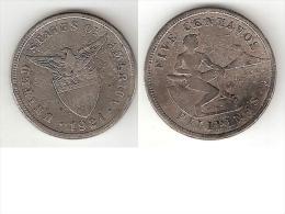 *philippines 5  Centavos 1921  Km 164  Vf - Philippines