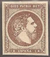 ESPAÑA 1875 - Edifil #161 Sin Goma (*) - Unused Stamps