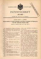 Original Patentschrift - A. Siret In Löwen , 1894 , Kanone , Geschütz , Waffe !!! - Uitrusting