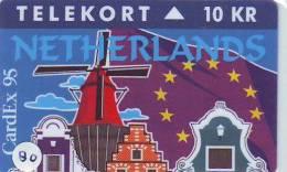 Denmark TP 111, CARDEX 1995 (80)  TIRAGE 1000 . NETHERLANDS PAYS-BAS WINDMILL - Denemarken