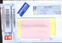 France-Lettre Recommandée Expédiée Arago En 2012, En Roumanie, Suceava - France