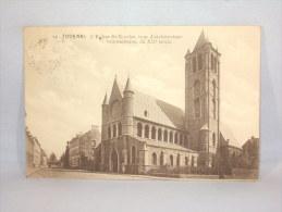 Tournai. Eglise St.Nicolas. Cachet Et Timbre Allemand. - Tournai