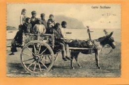 Palerom Carretto Siciliano 1905 Postcard - Palermo