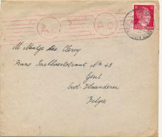 BRIEF 1943 VAN DUITSLAND NAAR BELGIE  CENSUUR
