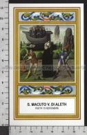 Xsa-11840 S. San MACUTO VESCOVO DI ALETH SAINTES Santino Holy Card - Religion & Esotericism