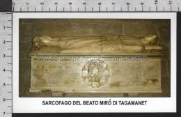 Xsa-11843 SARCOFAGO DEL BEATO MIRO DI TAGAMANET GERONA Santino Holy Card - Religion & Esotericism