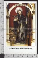 Xsa-11844 S. San DOMENICO ABATE DI SILOS S. MILLAN Santino Holy Card - Religion & Esotericism