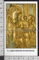 Xsa-11859 S. San LAUDO VESCOVO DI COUTANCES SAINT-LO Santino Holy Card - Religion & Esotericism