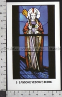Xsa-11884 S. San SANSONE VESCOVO DI DOL GALLESOXENTHALL Santino Holy Card - Religione & Esoterismo