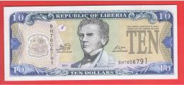 LIBERIA - 10 Dolar  2011 SC  P-27 - Liberia