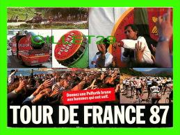 CYCLISME = TOUR DE FRANCE 87 - ANIMATION D´ALAIN FARELLI - CIRCULÉE EN 1987 - PUBLICITÉ, PELFORTH BRUNE - - Cyclisme