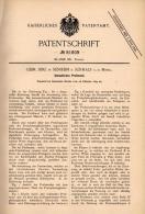 Original Patentschrift - Gebr. Binz In Senheim B. Senhals A. Mosel , 1894 , Umlaufendes Preßwerk , Presse !!! - Tools