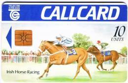 "Télécarte CALLCARD Telecom Eireann ""Irish Horse Racing""  10Units VideTTB  N° 5098969000105 - Irlande"
