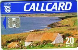 "Télécarte CALLCARD Telecom Eireann ""House  On Beach""  20Units Vide TTB - Irlanda"